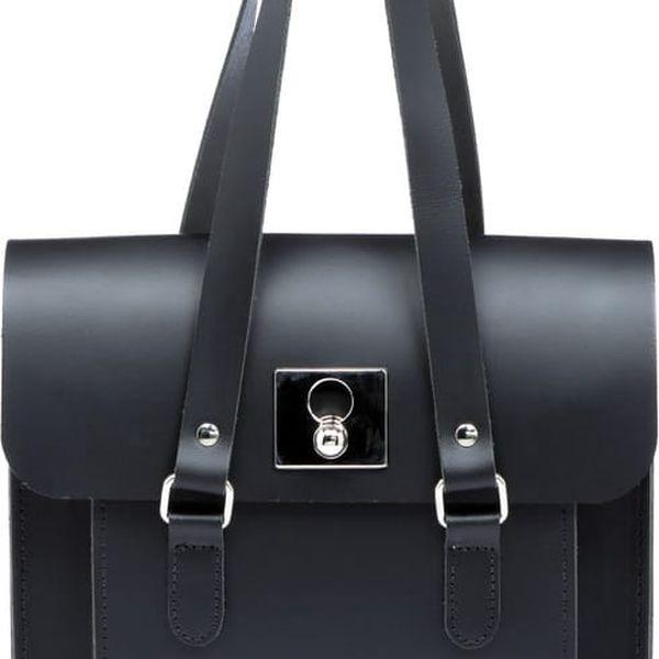 Kožená kabelka Rosemont Black/Royal Blue - doprava zdarma!