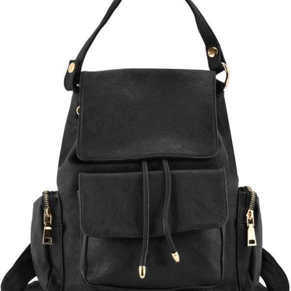 Dámský černý batoh Evelyne 5046