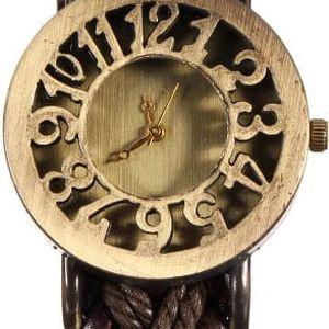 Dámské vintage hodinky s pleteným páskem