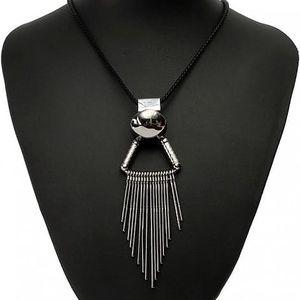 Dámský extravagantní náhrdelník s třásněmi - poštovné zdarma