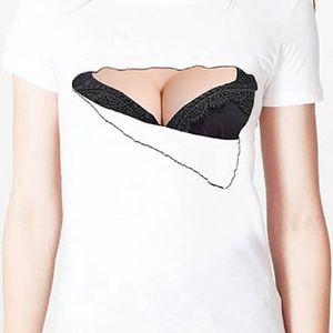 Kreativní dámské tričko s podprsenkou - skladovka - poštovné zdarma
