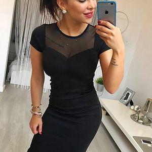 Elegantní černé šaty Edith