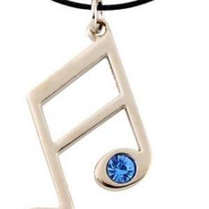 Jednoduchý náhrdelník s notičkou - skladovka - poštovné zdarma