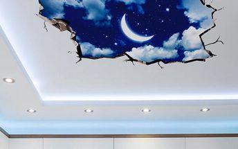 3D samolepka na strop či podlahu - Noční obloha - poštovné zdarma