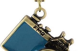 Náhrdelník s přívěskem barevného foťáku -Modrá - poštovné zdarma