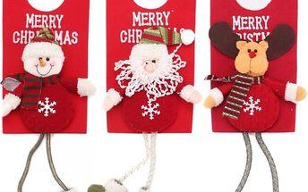 Vánoční postavička z flanelu a úpletu - poštovné zdarma