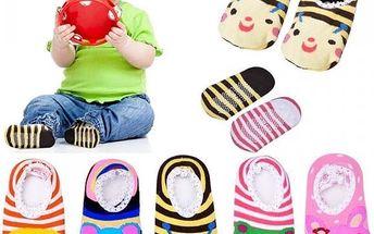 5 párů bačkůrek pro miminka - poštovné zdarma