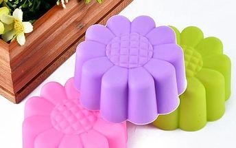 Silikonová forma na výrobu muffinů - barevné sedmikrásky - 10 ks - poštovné zdarma
