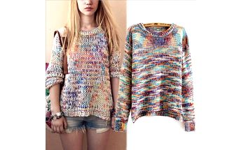 Barevný pletený svetr Colors