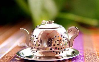 Originální sítko na sypaný čaj ve tvaru konvičky