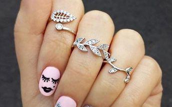 Sada tří romantických prstýnků - Stříbrná