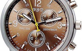 Pánské hodinky s páskem z umělé kůže