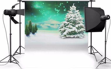 Fotopozadí do ateliéru - vánoční strom - 150 x 210 cm