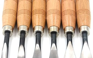 Sada řezbářských dlát - 150 mm - 6 ks - poštovné zdarma
