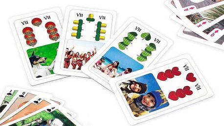 Hrací karty na hry Kvarteto, Černý Petr či Prší s vlastními fotografiemi