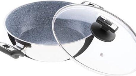 KOLIMAX CERAMMAX PRO COMFORT pánev 26 cm s úchyty, se skleněnou poklicí, vysoká, granit šedá