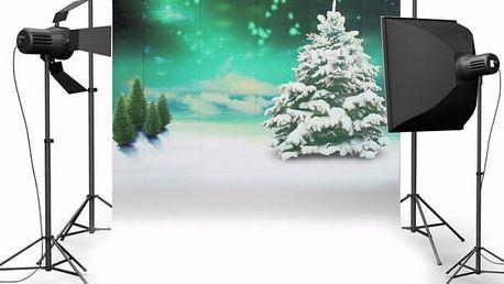 Fotopozadí do ateliéru - vánoční strom - 150 x 210 cm - poštovné zdarma