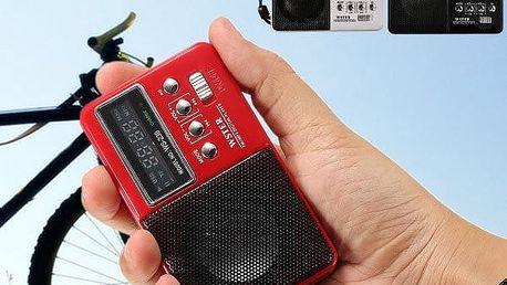 Přenosné mini retro rádio - mix barev - poštovné zdarma