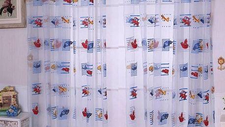 Záclona do dětského pokoje s autíčky - poštovné zdarma