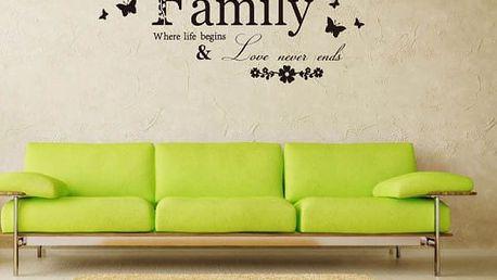 Samolepka na zeď - rodinný motiv - poštovné zdarma