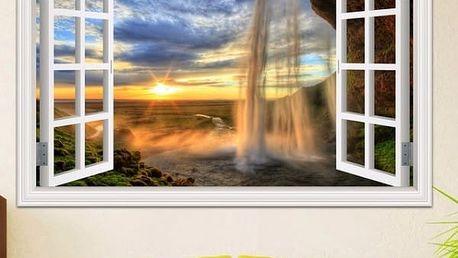 3D samolepka na zeď - Vodopády celého světa
