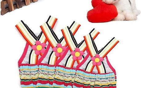 Barevné psí kalhotky s kytičkou - 1