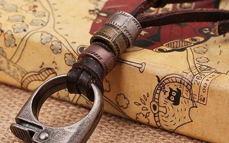 Pánský řetízek v hnědé eleganci - poštovné zdarma