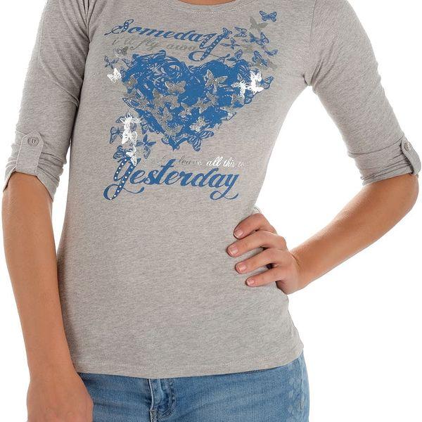 Dámské tričko s 3/4 rukávem Cache Cache vel. XL