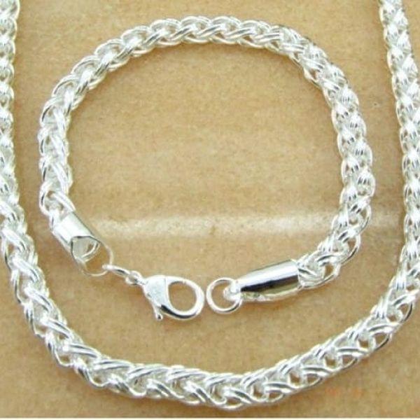 Sada šperků pro muže - řetízek + náramek