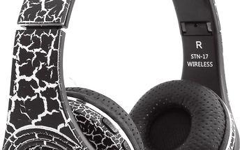Stylová moderní Bluetooth sluchátka Barva: černá