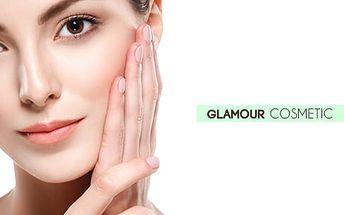 60min. kosmetické ošetření pleti: čištění ultrazvuk. špachtlí, maska i úprava obočí