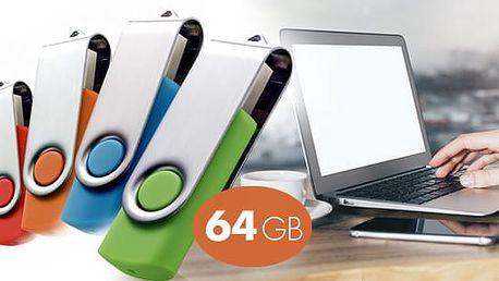 USB Flash disk s kapacitou 64 GB a rozhraním USB 2.0 a pošta zdarma