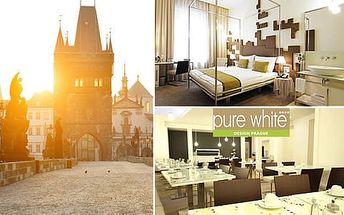 Moderní Hotel Pure White**** se snídaní pro 2 osoby s výbornou dostupností do centra Prahy