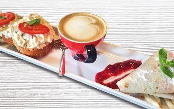 Snídaně či svačinka s teplým nápojem v Bistrotu