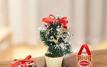 Mini vánoční stromek do kanceláře - poštovné zdarma
