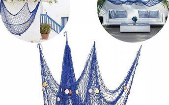 Námořnická dekorativní síť v modré barvě - 2 x 1,5 m - poštovné zdarma
