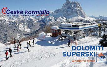 5–6denní lyžařský balíček Civetta (Dolomiti Superski, Itálie) | Doprava, skipas, ubytování, polopenze | Hotel Savoia***