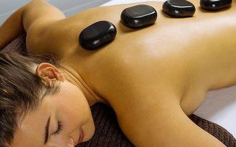 60minutová hřejivá masáž lávovými kameny