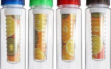 700 ml lahev na pití s košíčkem na ovoce