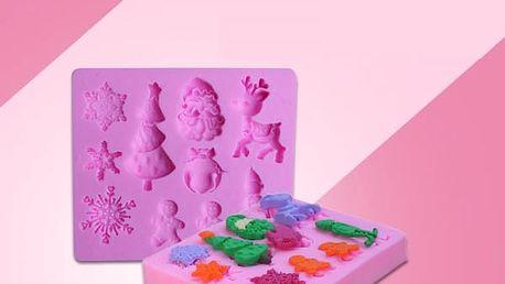 Silikonová forma s vánočními motivy - poštovné zdarma