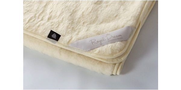 Vlněná deka Merino Beige, 90x200 cm