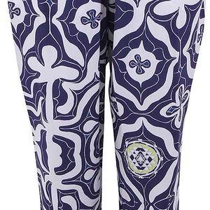 Bílo-modré volné kalhoty Desigual Carmin