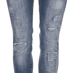 Modré džíny s defekty Desigual Donato