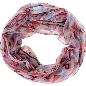 Barevný dámský vzorovaný dutý šátek s.Oliver