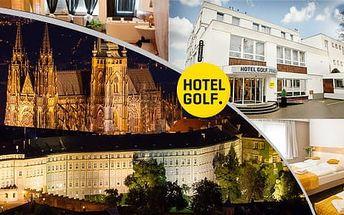 Luxusní Hotel Golf**** jen pár minut od pražského centra, s parkováním zdarma