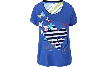 Modré tričko Desigual Love