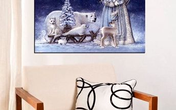 Vánoční sada pro výrobu vlastního obrazu - 40 x 30 cm - poštovné zdarma