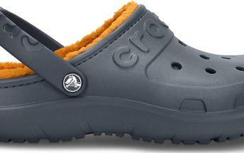 Crocs Hilo Lined Clog Charcoal/Mango, dostupné velikosti 42-47