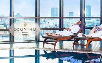 Luxusní wellness pobyt na 1 noc se snídaní pro 2 osoby v Hotelu Corinthia Praha*****