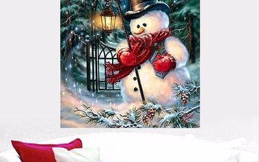 Sada pro výrobu vánočního 5D obrazu - 25 x 20 cm